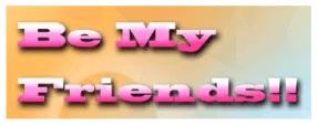 Be My Friends!