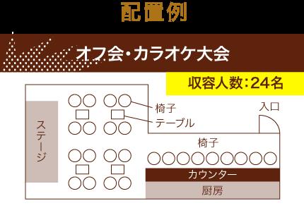 オフ会・カラオケ大会 収容人数:24名